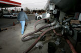 BG004  Gas is delivered to Youngfield Gas Express which has been in a heated battle with Conoco...