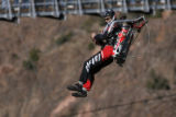 Go Fast Jet Pack Pilot, Eric Scott, flies over Royal Gorge, Monday afternoon, November 24, 2008,...