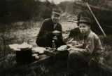 MJM100  Ted Engelmann (cq), right, on a camping trip with his father, George Engelman Jr.  Photo...