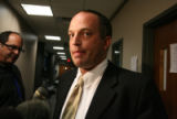 Arapahoe County Prosecutor   Rich Ormen (cq) talks to the media after  Francis Hernandez (cq)...