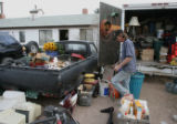 John Loyd (cq) moves his stuff out of his room, #18, at the Clearview Motel, 7750 Hwy 2, Tuesday...