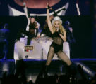 Pop star Madonna on stage at the Pepsi Center during her first-ever in Denver  performance on...
