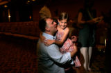 BG2734 Chef Jose Andres gives his daughter Carlota, 9 a kiss after she helped him with his...