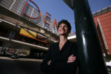 Executive Director, Tracy Huggins of Denver Urban Renewal Authority poses at the Denver Pavilions...