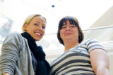 Urban Outfitters sales people Sara Corbitt, left, and Susie Sieler have been shopping together for...