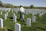 at Ft. Logan National Cemetery in Denver,  bury the remains of WW 2 veteran Frank Curry 79, from...