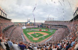 A record crowd of 51,267 at Coors Field watches the opening of the 69th annual All-Star Game.
