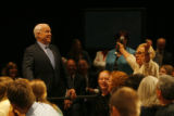 DM1105  Republican presidential candidate Sen. John McCain reacts to the enthusiasm shown by...