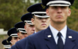 (DENVER, Colo., May 30 2005) The High Frontier Honor Guard-Peterson AFB, CO, stand in formation,...