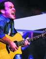"Popular music icon Dave Matthews plays a cover of the Zombies ""Time of the Season"" to a..."