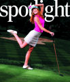 SPOTLIGHT COVER: L5ST_FASH- kennedy - the latest in golf fashion, pegged to the women's u.s. open...