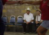 DM1113  Don Dutcher, 85, left, and Dale Brauher, 88, watch as the younger generations dance the...