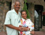 Haven Moses (cq) and his wife Joyce Moses (cq) during a 40th wedding anniversary outside of ...