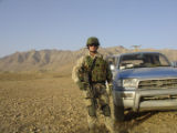 Jason Crow in 2005 near Kabul
