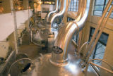 The main brew kettles at the Miller Brewing Co. in Milwaukee on Nov. 12, 2008.  ERNIE MASTROIANNI...