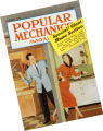 This October 1953 cover of Popular Mechanics Magazine, showing how editors and advertisers usually...