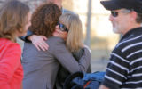 DM2333  Sue Garber, mother of Emily Rae Rice, gets a hug from attorney Mari Newman as Emily's...