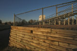 The old press box sits above the bleachers, at the football field at Harvard Gulch Park, 660 E....