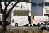 Will Smith tour bus outside of the Denver News Paper Agency building on Nov. 21, 2008. MARIE...