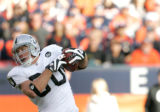 0436 Oakland Raiders tight end Zach Miller #80 makes a first down grab in the second quarter at...