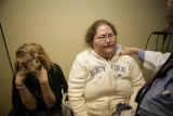 Patty Hancock (cq) and her daughter Angela, 13, (cq) visit Dr. David Rothman (cq) at 6795 E...