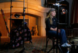 DM0176  Last year's overall World Cup Champion Lindsey Vonn of Vail sits under the lights as she...