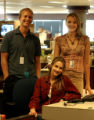 (DENVER, Colo., June 11, 2004) Rocky Mountain News interns Jacob Pritchard, Gabrielle Devenish and...