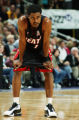 28 JAN 2002:  Rod Strickland #6 of the Miami Heat catches his breath during a loss against the...