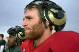 CSU senior Mike Pagnotta wears a red injury jersey during practice on Friday, December 12, 2008....