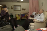 Harold(left) roommate Bob Masters(back center lying on his bed, Stan, (right) all are together in...