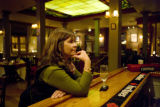 Ana Carrera (cq) owner of Buenos Aires Grill at 2191 Arapahoe Street in Denver, Colorado sits...