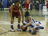 In Class 5A Continental League in the first half Regis  Jesuit's Mariah Williams and  Highland...