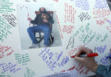 Dozens of people wrote thank you notes, best wishes and prayers for their departed friend and icon...