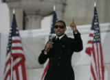 JOE1817 Performer Usher at the Lincoln Memorial for the Opening Ceremony on Sunday afternoon, Jan....