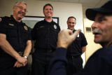 SR(065)  Jim Lewin, the retired firefighter from Durango credited with saving the life of his...