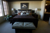 At Stapleton development this master bedroom is in the Denver Brownstones at Central Park which...
