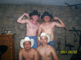 A 2007 photo of Betts and three unnamed Salvadoran immigrants whom investigators want to identify.