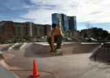 (PG14471) Jesse Pereira, 22, hangs out at Denver Skate Park on Wednesday, January 21, 2009....