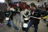 (1218) The Windsor High School Band practices at school in Windsor, Colo., on Friday, Jan. 2,...
