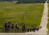 Some of the 7,000 riders, of all ages and abilities, take to the County line Road Sunday June 5,...