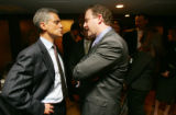 (0051) Incoming Obama Chief of Staff Rahm Emanuel talks with newly-elected Colorado Congressman...