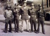 "(from left) Captain Fitzroy ""Buck"" Newsum (cq) is shown in an old photograph along with..."