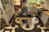 Roger and Toni Simmermon (cq) remodeled their home creating a dramatic black and white floor in...