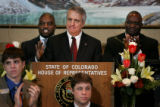 (PG10246) Gov. Bill Ritter delivers the state of the state address at the Capitol on Thursday,...