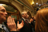 (PG10099) Gov. Bill Ritter walks into the House to deliver the state of the state address at the...