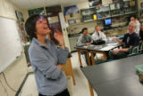 (0127) Biology teacher Judy Schoonmaker teaches mitosis and meiosis in an AP Biology class at...
