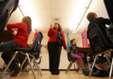 (0048) Michelle Pearson teaches a 6th grade social studies class at Hulstrom Options K-8 in...