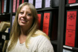 Cheryl Moore cq) , an investigator with the Jeffco Sheriff's Office,  in her office Friday January...