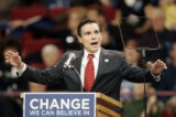 [459] Ex-Denver Mayor Federico Pena addressed the large crowd attending the Barack Obama rally in...