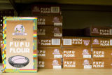 A variety of flour line the aisles of the International Market at 2020 S. Parker Road, Denver,...
